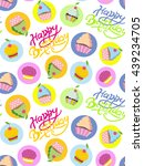 happy birthday background.... | Shutterstock .eps vector #439234705