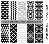 collection of black and white... | Shutterstock .eps vector #439237825
