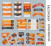banner collection orange   Shutterstock .eps vector #439241791