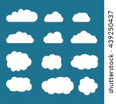 set of sky  clouds. collection... | Shutterstock .eps vector #439250437