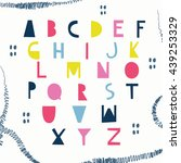 bright abc for your design. | Shutterstock .eps vector #439253329