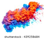 splash of paint. abstract... | Shutterstock . vector #439258684