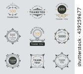 set of vintage thank you badges ... | Shutterstock .eps vector #439259677