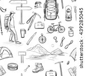 vector set of sketches on the... | Shutterstock .eps vector #439285045