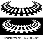railway  railroad silhouettes... | Shutterstock .eps vector #439288609
