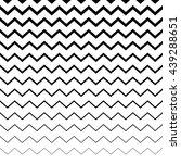 zigzag  wavy irregular lines... | Shutterstock .eps vector #439288651