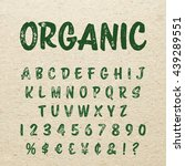 organic alphabet with imprint... | Shutterstock .eps vector #439289551