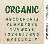 organic alphabet with imprint... | Shutterstock .eps vector #439289551