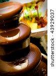 Chocolate Fountain Against...