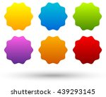set of 6 colorful  vivid button ... | Shutterstock .eps vector #439293145