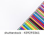 color pen on rough white... | Shutterstock . vector #439293361