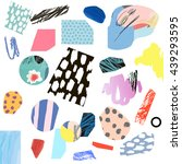 trendy creative collage with... | Shutterstock .eps vector #439293595