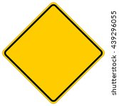blank yellow square warning... | Shutterstock .eps vector #439296055