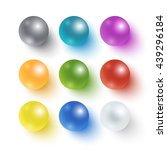 collection of realistic... | Shutterstock .eps vector #439296184
