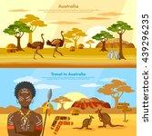 australia travel banner... | Shutterstock .eps vector #439296235