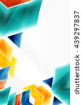 glass glossy arrow motion... | Shutterstock .eps vector #439297837