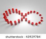 endless business graph | Shutterstock . vector #43929784
