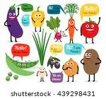 set of colored vegetables for... | Shutterstock . vector #439298431