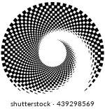 inward spiral of rectangles.... | Shutterstock .eps vector #439298569