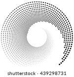 inward spiral of rectangles.... | Shutterstock .eps vector #439298731
