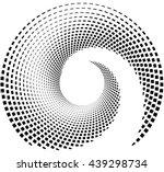 inward spiral of rectangles....   Shutterstock .eps vector #439298734