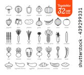 set of vegetable icons ... | Shutterstock . vector #439299331