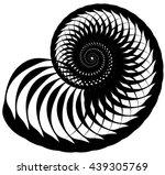 snail  helix made of inward... | Shutterstock .eps vector #439305769