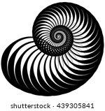 snail  helix made of inward... | Shutterstock .eps vector #439305841
