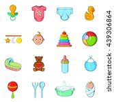 baby icons set  cartoon style | Shutterstock . vector #439306864