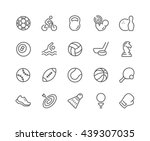 simple set of sport equipment... | Shutterstock .eps vector #439307035