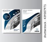 blue brochure design. annual... | Shutterstock .eps vector #439307971