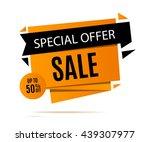 sale banner design. discount... | Shutterstock .eps vector #439307977