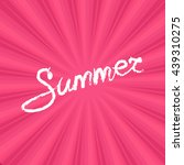text summer on pink background  ... | Shutterstock .eps vector #439310275