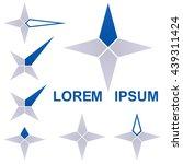dark blue star logo icon vector ...
