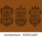 oktoberfest. 3 picture on a... | Shutterstock .eps vector #439311607