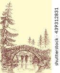 bridge drawing. bridge over... | Shutterstock .eps vector #439312831