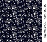 seamless vector floral pattern. ... | Shutterstock .eps vector #439315015