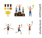sports athletes winner  torch... | Shutterstock .eps vector #439316635