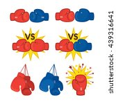 boxing gloves red and blue ... | Shutterstock .eps vector #439316641
