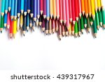color pencils isolated on white ... | Shutterstock . vector #439317967