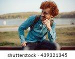 outdoor portrait of young... | Shutterstock . vector #439321345