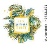vector illustration tropical... | Shutterstock .eps vector #439321831