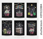 set of invitation cards to the... | Shutterstock .eps vector #439322884