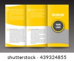 corporate trifold brochure... | Shutterstock .eps vector #439324855
