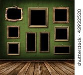 old gold frames victorian style ... | Shutterstock . vector #43932520