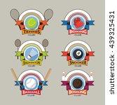 sport logo  emblem  badge ... | Shutterstock .eps vector #439325431