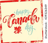 happy canada day vector... | Shutterstock .eps vector #439326349