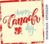 happy canada day vector... | Shutterstock .eps vector #439326349