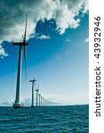 windmills in a row vertical | Shutterstock . vector #43932946