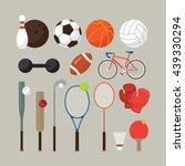 sports equipment  flat objects... | Shutterstock .eps vector #439330294